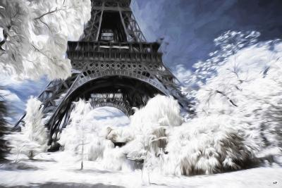 Paris under the snow - In the Style of Oil Painting-Philippe Hugonnard-Giclee Print