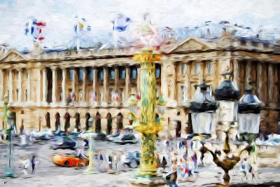 Paris Urban Scene - In the Style of Oil Painting-Philippe Hugonnard-Giclee Print