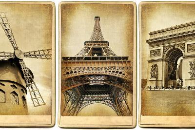 Paris - Vintage Cards Series-Maugli-l-Art Print