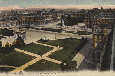Paris, Vue Generale Du Louvre--Giclee Print