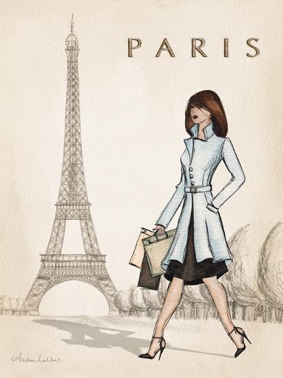 Paris-Andrea Laliberte-Art Print