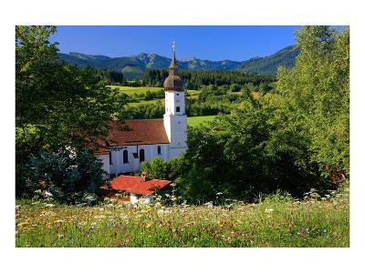 Parish church of St. Georg in Bad Bayersoien, Upper Bavaria, Germany--Art Print