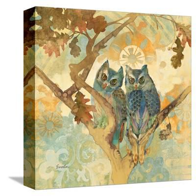 Parish Owls--Stretched Canvas Print