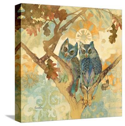 Parish Owls--Stretched Canvas Print
