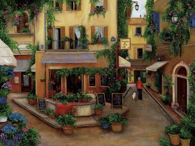 Parisian Cafés-Betty Lou-Giclee Print