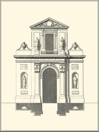 Parisian Facade II-Deneufforge-Art Print