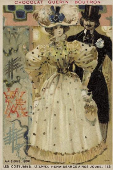 Parisian Fashions, 1896--Giclee Print