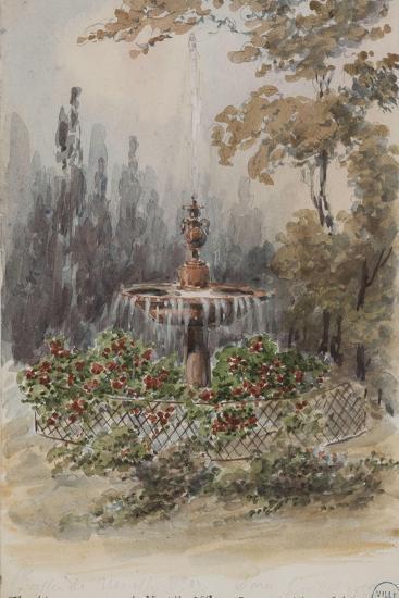 Parisian Fountains-Jean-Marie Amelin-Giclee Print