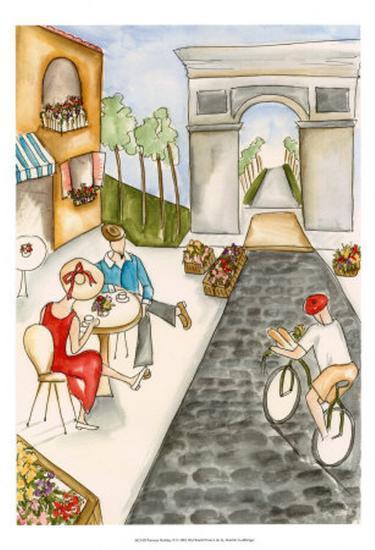 Parisian Holiday II-Jennifer Goldberger-Art Print