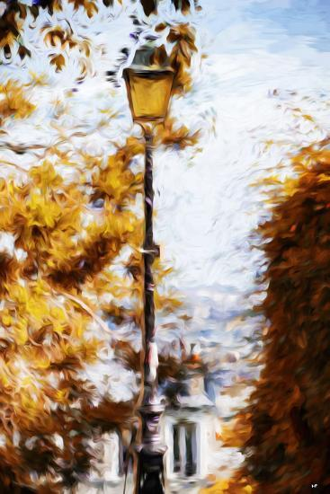 Parisian Lamppost II - In the Style of Oil Painting-Philippe Hugonnard-Giclee Print