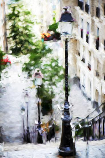 Parisian Lamppost III - In the Style of Oil Painting-Philippe Hugonnard-Giclee Print