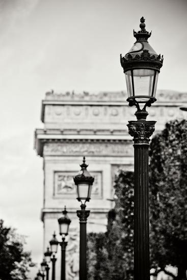 Parisian Lightposts BW I-Erin Berzel-Photographic Print