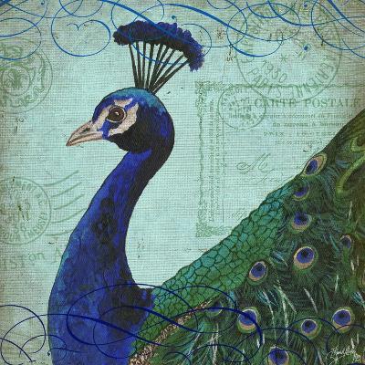 Parisian Peacock II-Elizabeth Medley-Art Print