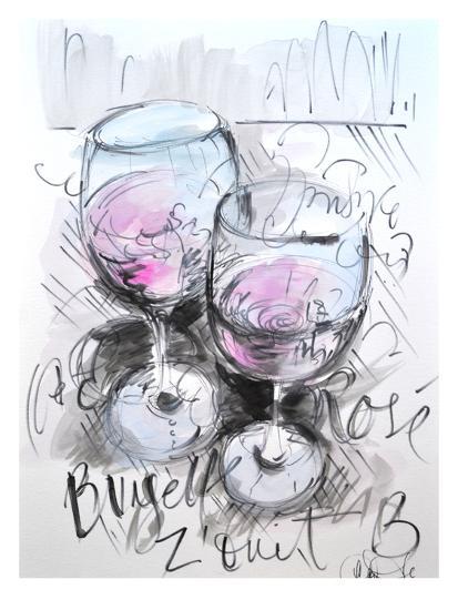 Parisian Rose-Cara Francis-Art Print