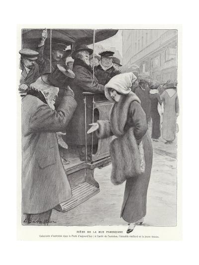 Parisian Street Scene-Louis Remy Sabattier-Giclee Print