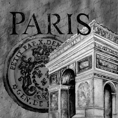 Parisian Wall Black IV-Janice Gaynor-Art Print