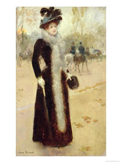 Parisian Woman in the Bois de Boulogne, c.1899-Jean B?raud-Giclee Print