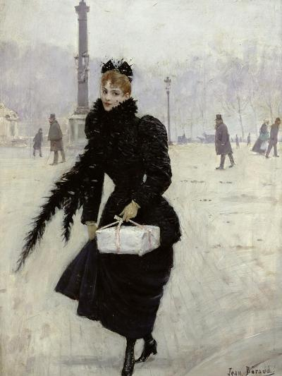 Parisian Woman in the Place de La Concorde, c.1890-Jean B?raud-Giclee Print