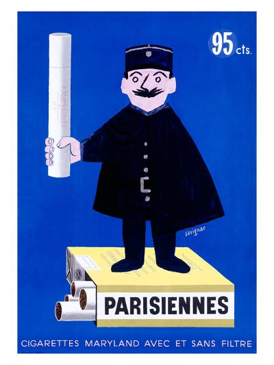 Parisiennes Cigarettes-Raymond Savignac-Giclee Print