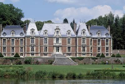 Park and Facade of Chateau De Suzanne, Picardy, France, 17th-19th Century--Giclee Print