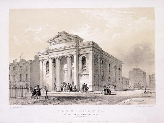 Park Chapel, Camden Town, London, C1850-Edwin Thomas Dolby-Giclee Print