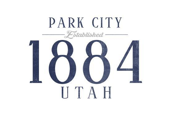 Park City, Utah - Established Date (Blue)-Lantern Press-Art Print