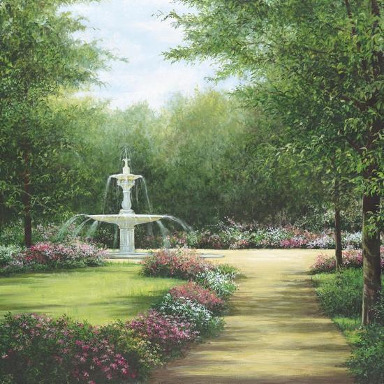 Park Fountain-Lene Alston Casey-Art Print