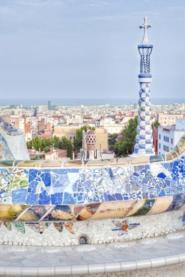 Park Guell Terrace, Barcelona, Spain-Rob Tilley-Photographic Print