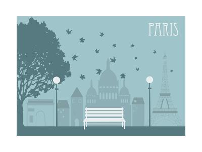 Park in Paris. Vector-Ladoga-Art Print