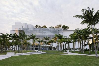Park, Miami New World Symphony, 17th Street, Miami South Beach, Miami, Florida, Usa-Axel Schmies-Photographic Print