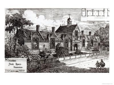 Park Road, Hampstead, from The Building News, 3rd September 1880--Giclee Print