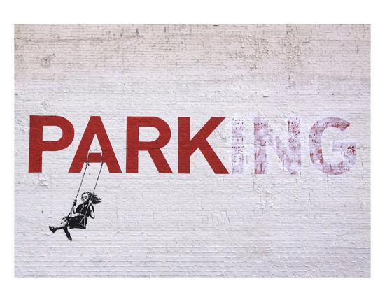 Parking-Banksy-Art Print