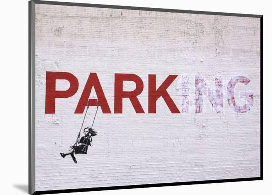 Parking-Banksy-Mounted Giclee Print