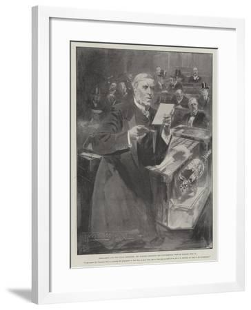 Parliament and the Naval Estimates-Thomas Walter Wilson-Framed Giclee Print