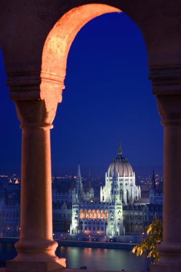 Parliament Building in Budapest-Jon Hicks-Photographic Print