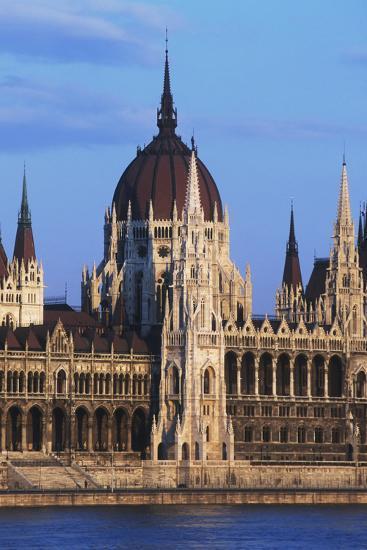 Parliament Buildings on River Danube-Design Pics Inc-Photographic Print