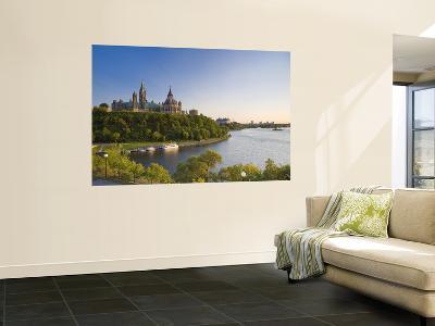 Parliament Hill and Ottawa River, Ottawa, Ontario, Canada-Michele Falzone-Wall Mural