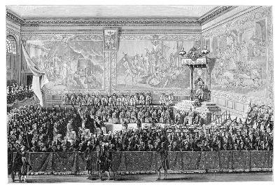 Parliament Meeting, Versailles 1776- Girardet-Giclee Print