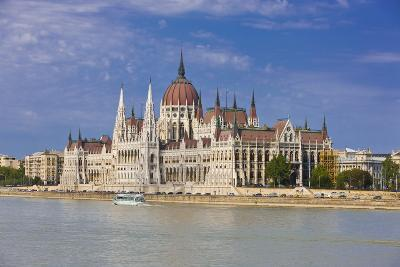 Parliament on the Banks of the River Danube, Budapest, Hungary, Europe-Michael Runkel-Photographic Print