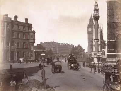 Parliament Square from Victoria Street, London, C.1885--Photographic Print