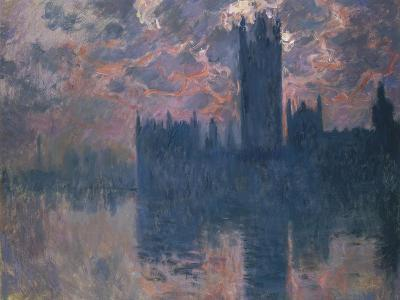 Parliament, Sunset, 1902-Claude Monet-Giclee Print