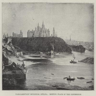 Parliamentary Buildings, Ottawa, Meeting Place of the Conference--Giclee Print