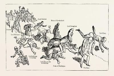 Parliamentary Elections and Electioneering in the Old Days: J. Doyle: Leap-Frog Down Constitution H--Giclee Print