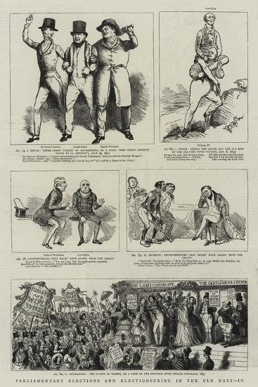 Parliamentary Elections and Electioneering in the Old Days--Giclee Print