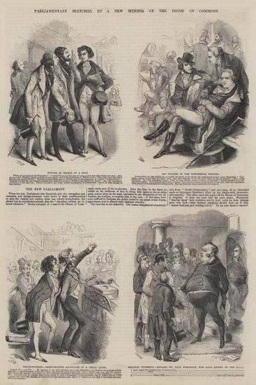 Parliamentary Sketches--Giclee Print