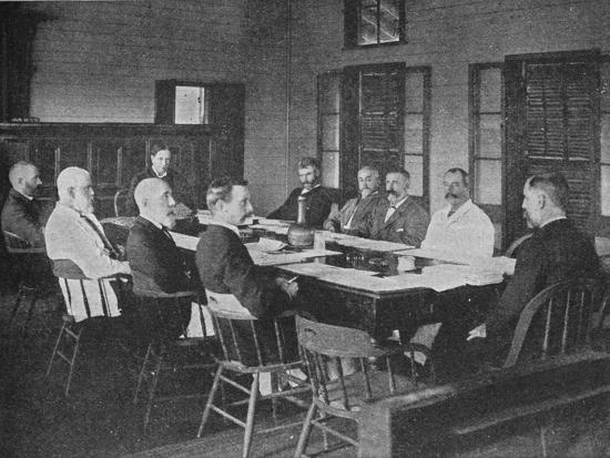 Parliaments of Britain's overseas dominions: the Legislative Council of Fiji in session, 1909-Unknown-Photographic Print