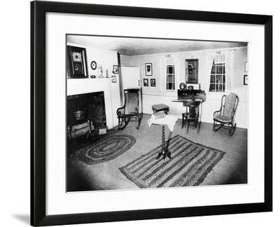 Parlor of the Edgar Allen Poe Cottage, NYC, Dec. 17, 1918--Framed Photographic Print