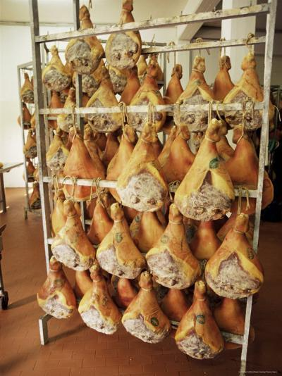 Parma Hams on Curing Racks, Near Pavullo, Emilia-Romagna, Italy-Ian Griffiths-Photographic Print
