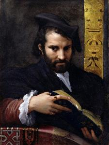 Portrait of a Man with a Book by Parmigianino