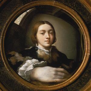 Self-Portrait in a Convex Mirror, 1523/24 by Parmigianino